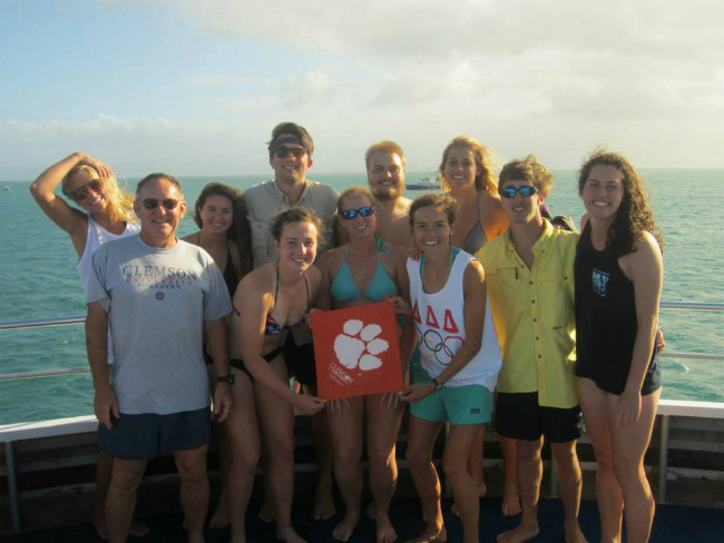 Clemson on Great Barrier 2013